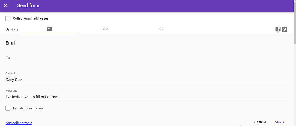 how to create a quiz in google forms