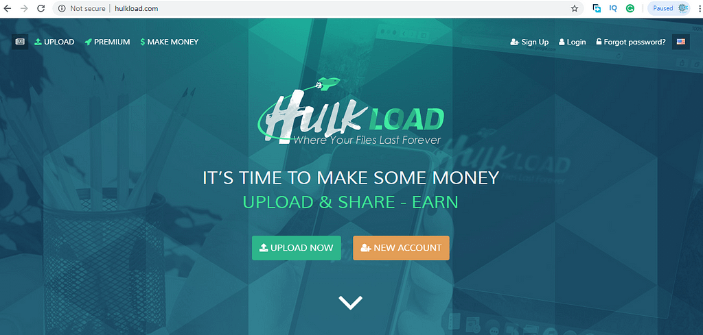 upload file and earn money