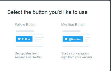 add twitter button to website