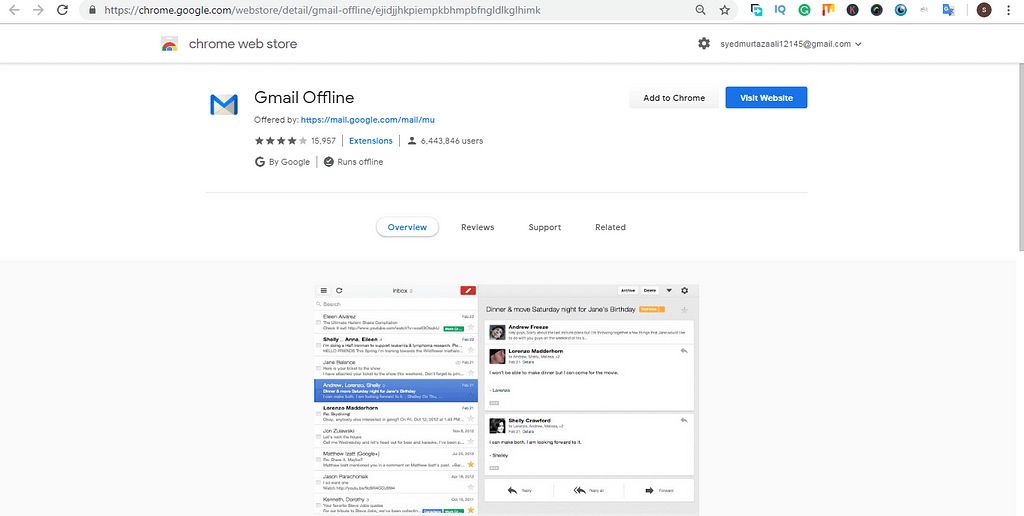 extension of google chrome