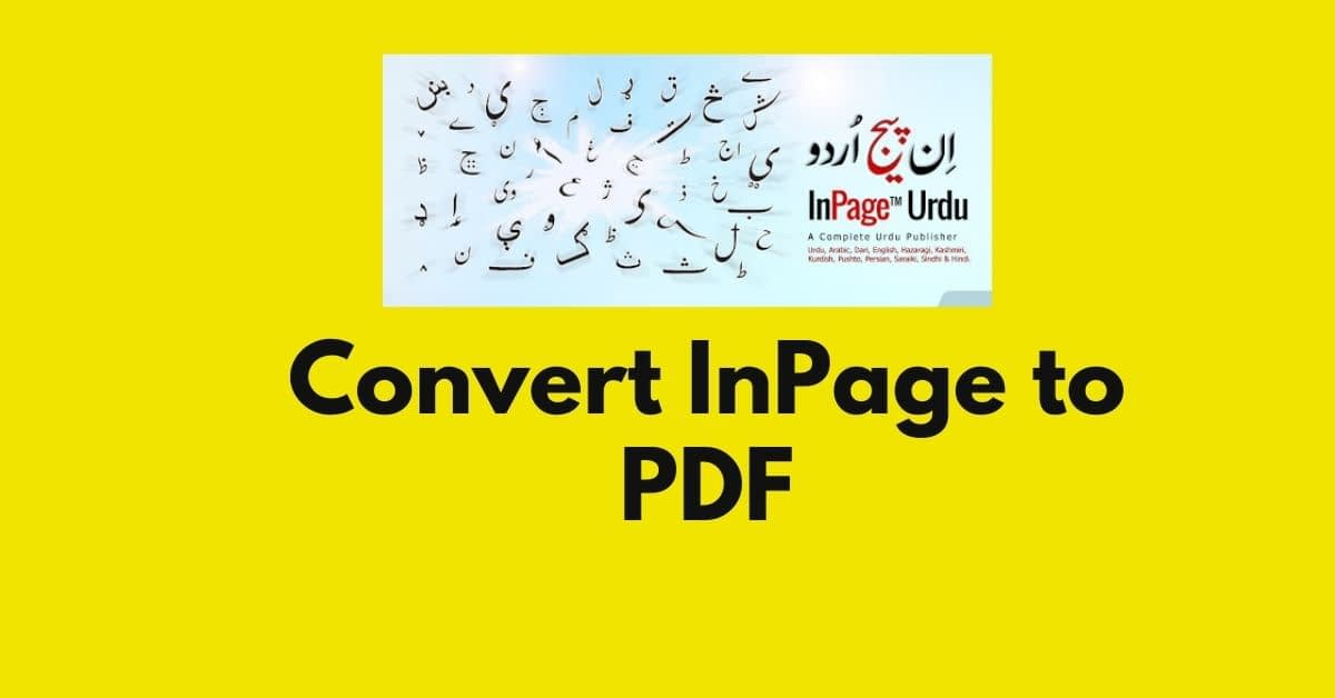 How to Convert InPage to PDF