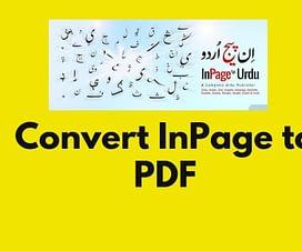 inpage to pdf