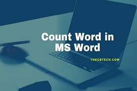 how to count down word in ms word