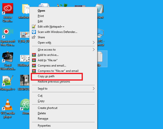 delete file using cmd (command prompt)