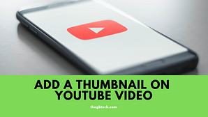 add a thumbnail on youtube video