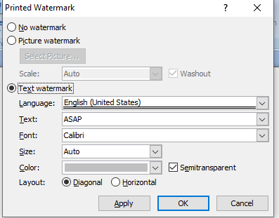 Add a watermark to your Word document