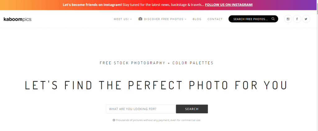 best place to find free pictures or photos
