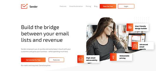 Best MailChimp Alternative is sender