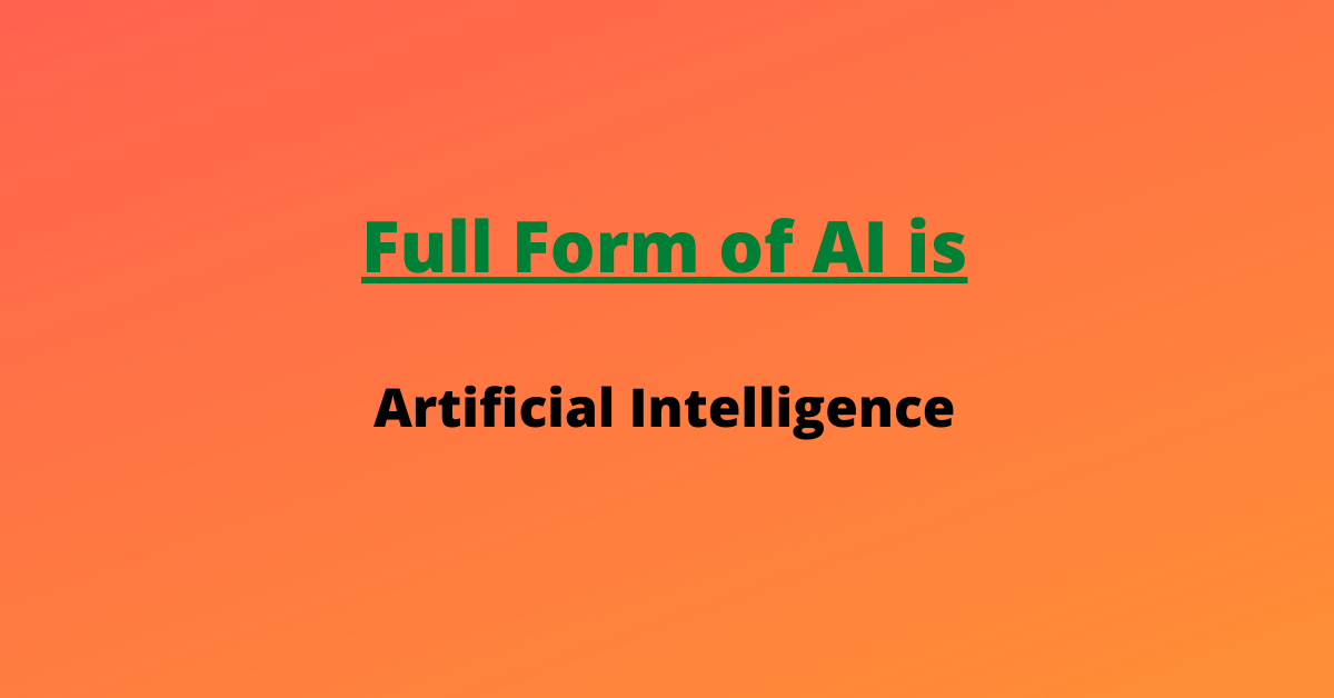 What is the full form of AI ?