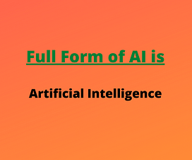 full form of ai