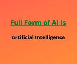 full form of ai