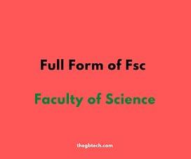 Fsc Stand for or full form of fsc