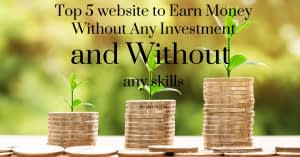 Top 5 Websites to Earn Money Online Without Investment for Students