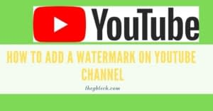 How To Add a Watermark on Youtube Channel