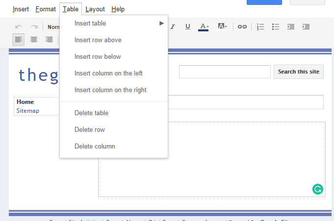 create a website on Google sites