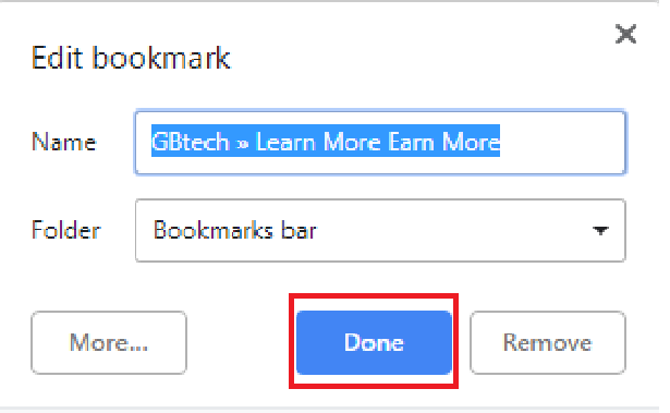 use a bookmark in Google Chrome