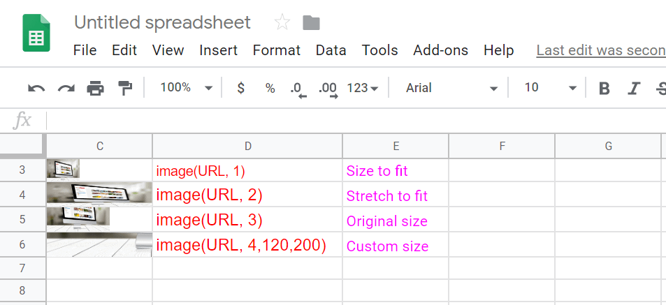 How to add an image in Your Google spreadsheet Using Function