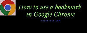 use a bookmark in Google Chrome