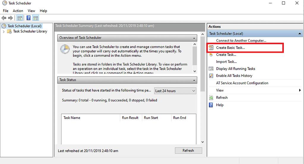 Auto shutdown Windows 10